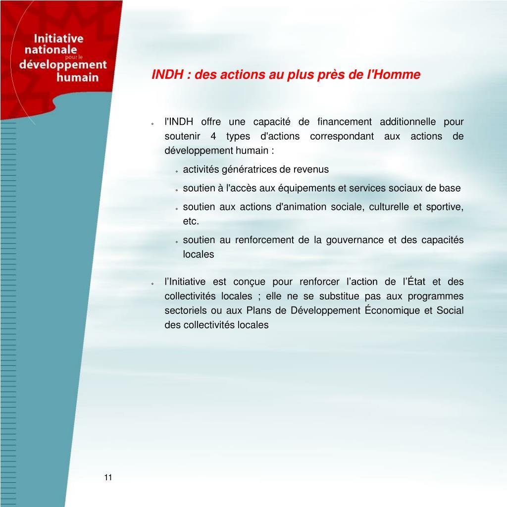 INDH : des actions au plus près de l'Homme