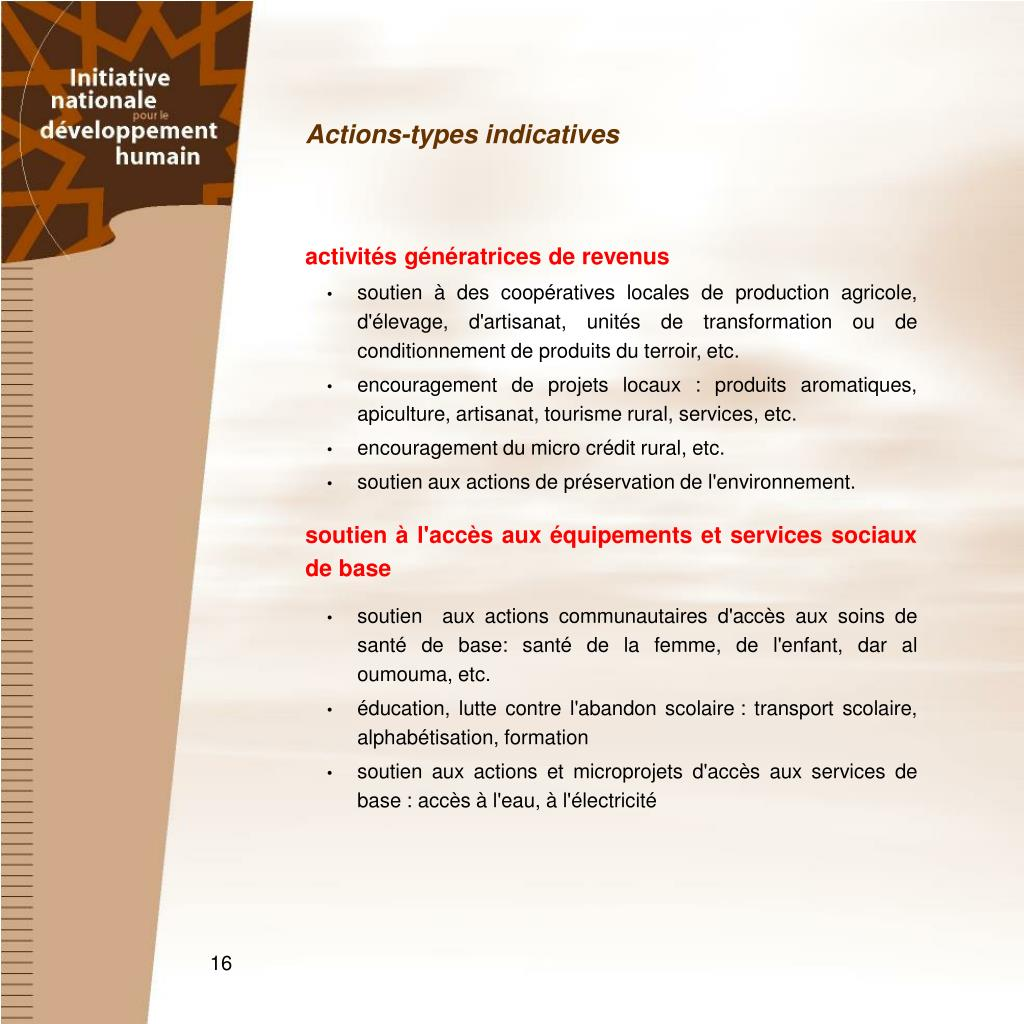 Actions-types indicatives