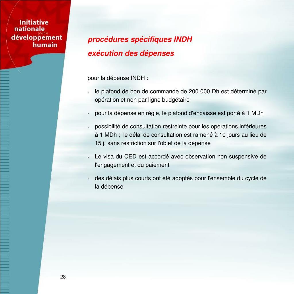 procédures spécifiques INDH