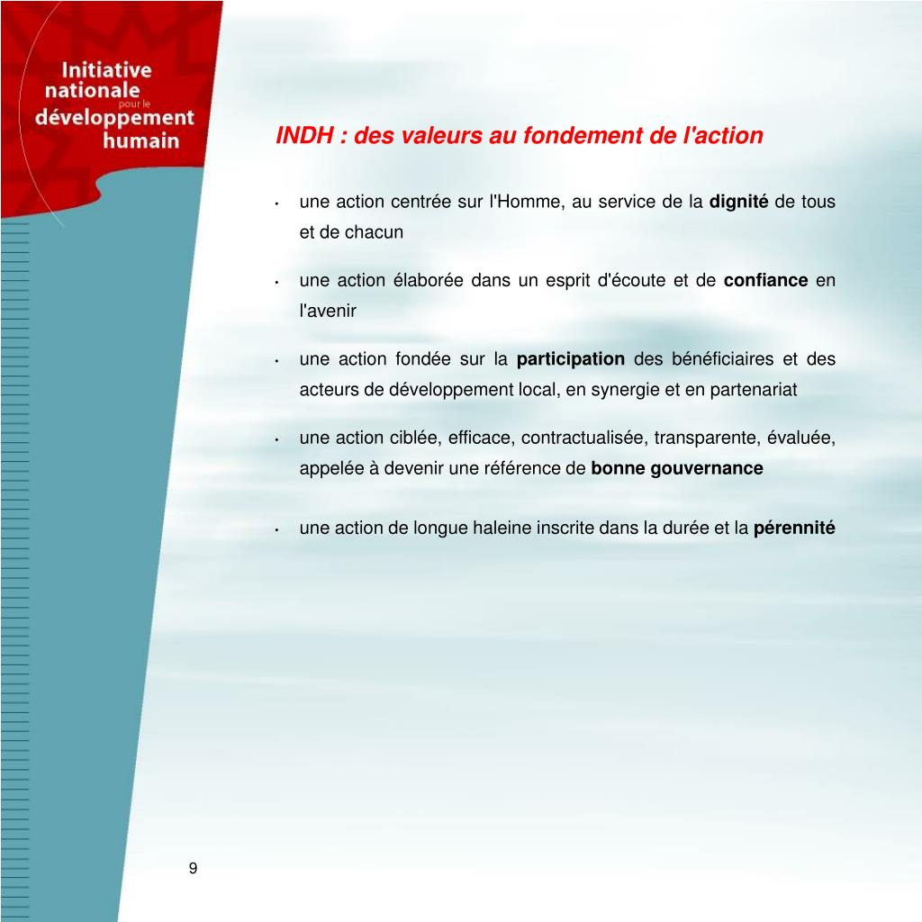 INDH : des valeurs au fondement de l'action