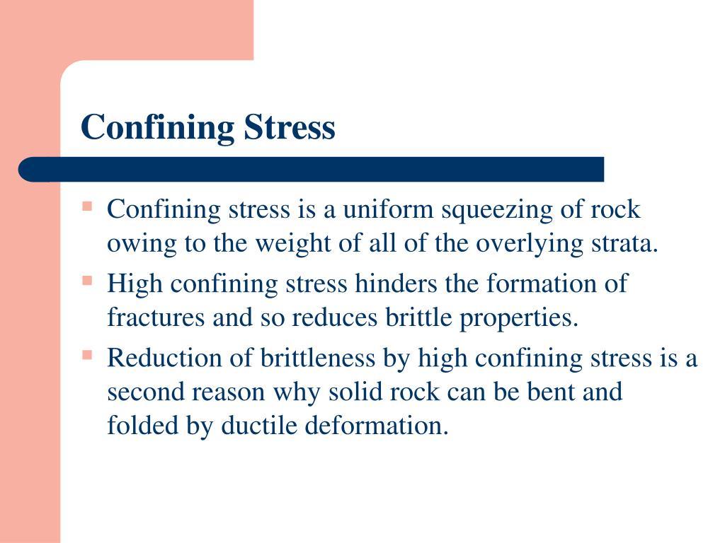 Confining Stress