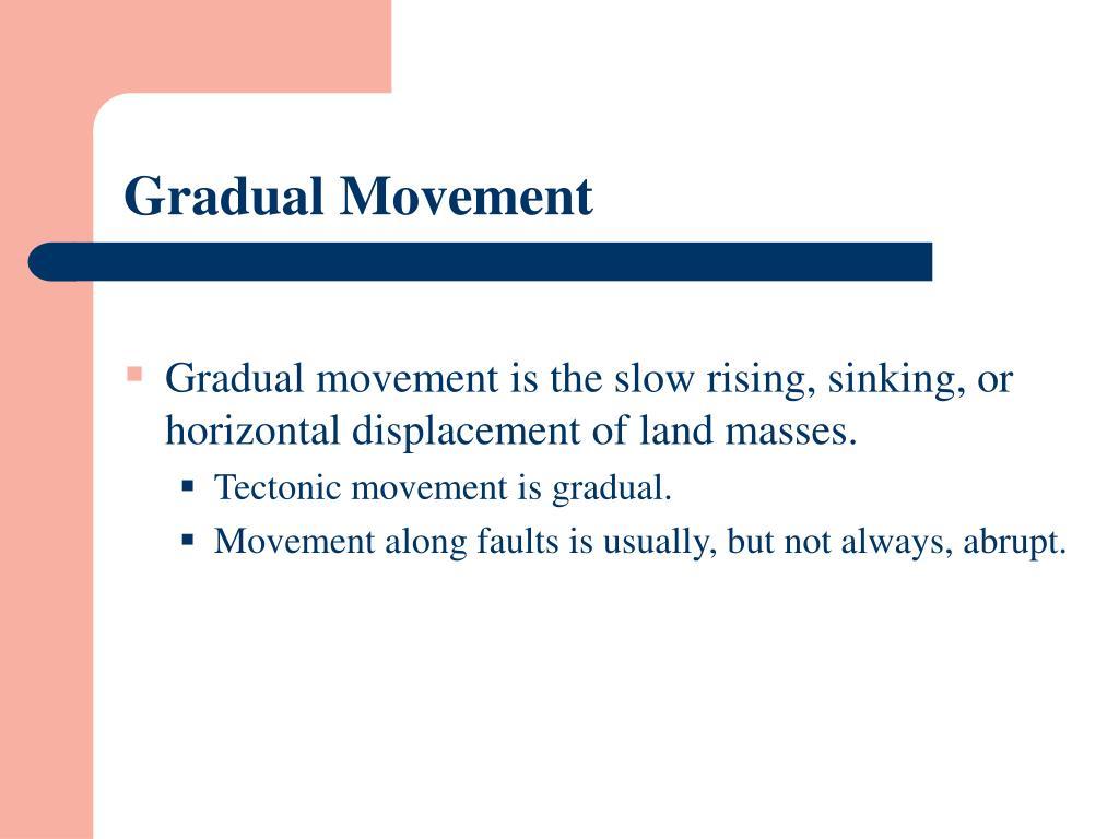 Gradual Movement
