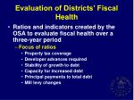 evaluation of districts fiscal health