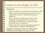 combat action badge cab