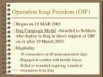 operation iraqi freedom oif
