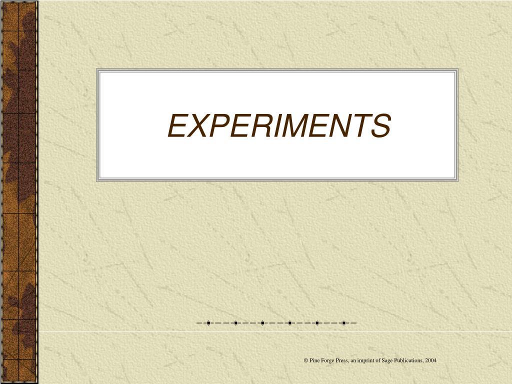 experiments l.