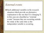 external events