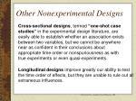other nonexperimental designs