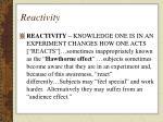 reactivity55