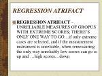 regression atrifact40
