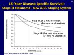 15 year disease specific survival stage ii melanoma new ajcc staging system