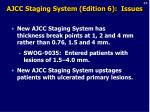 ajcc staging system edition 6 issues