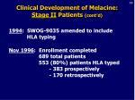 clinical development of melacine stage ii patients cont d20