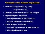 proposed trial patient population