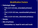 stratification factors