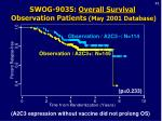 swog 9035 overall survival observation patients may 2001 database