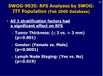 swog 9035 rfs analyses by swog itt population feb 2000 database