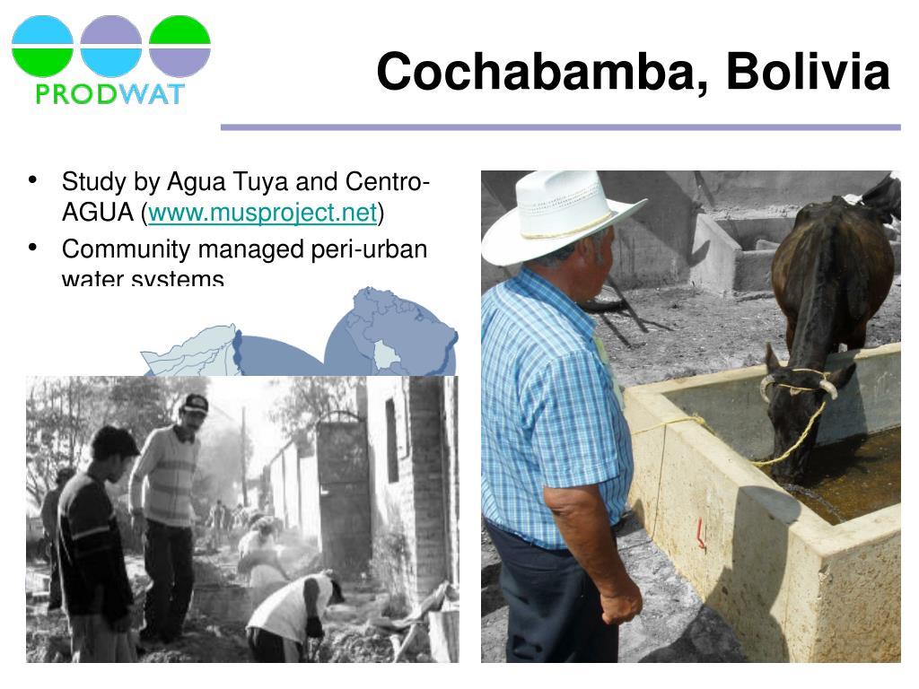 Study by Agua Tuya and Centro-AGUA (