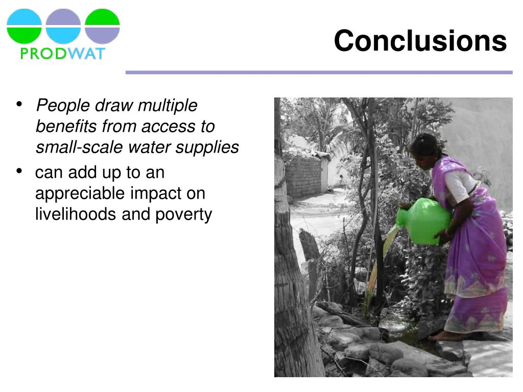 People draw multiple benefits from access to small-scale water supplies