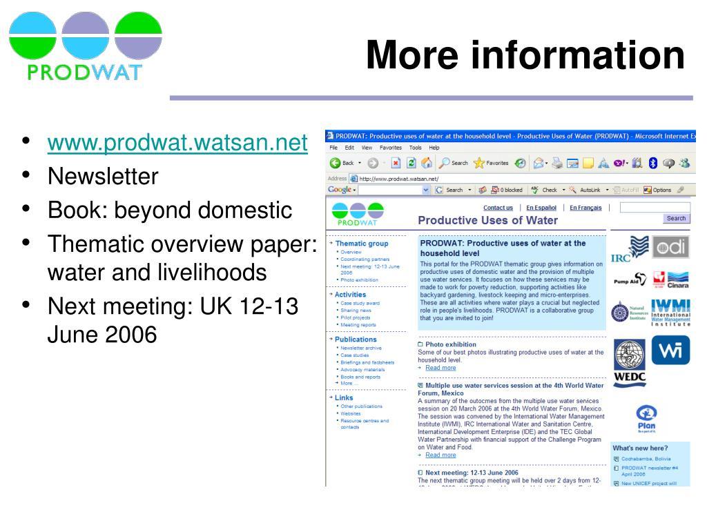 www.prodwat.watsan.net