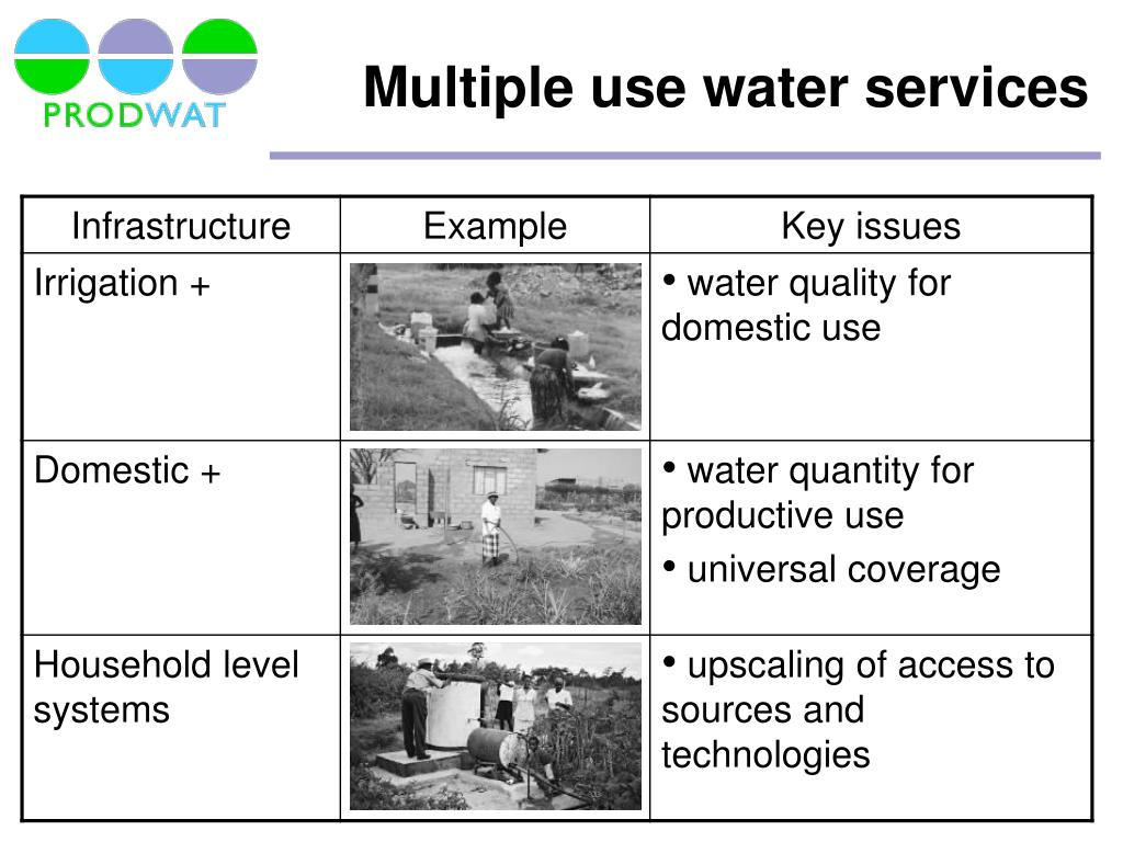 Multiple use water services