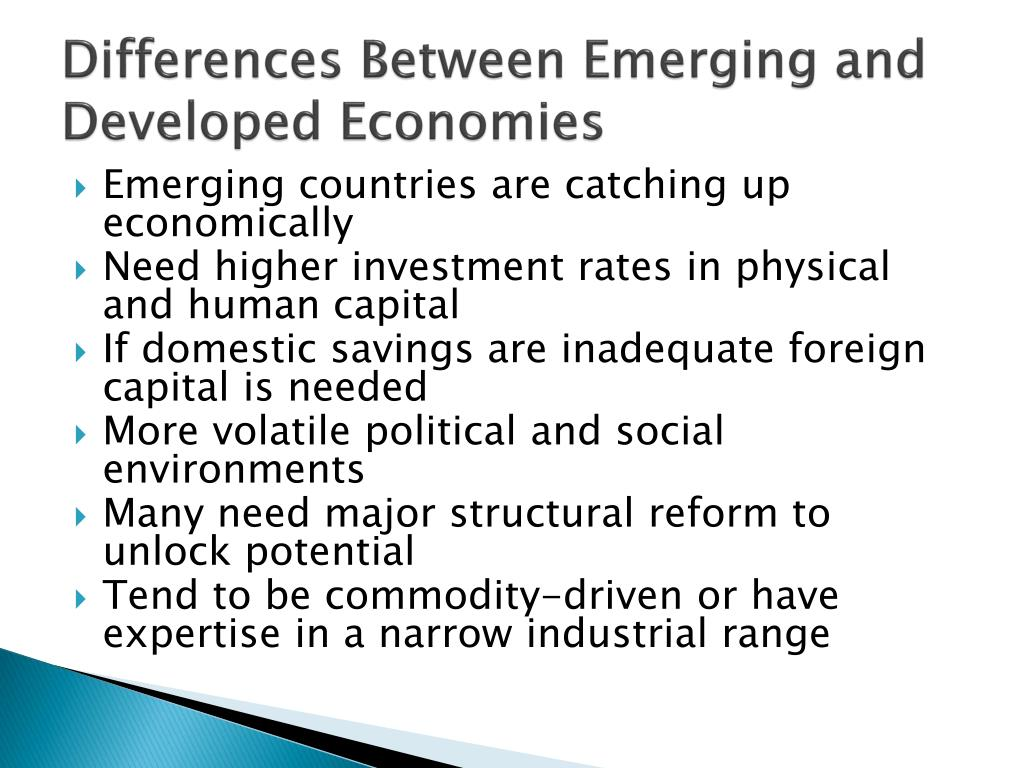 Differences Between Emerging and Developed Economies