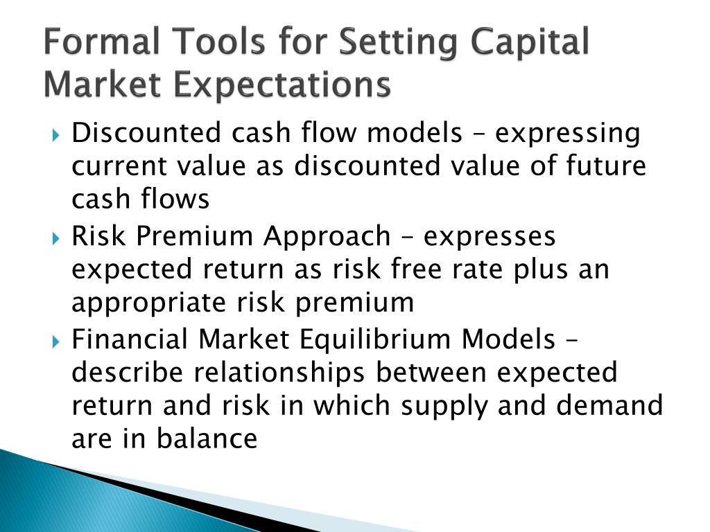 Formal Tools for Setting Capital Market Expectations
