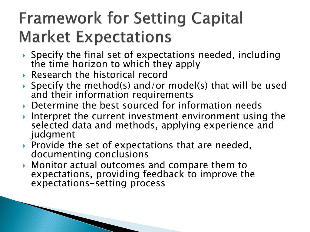 Framework for Setting Capital Market Expectations