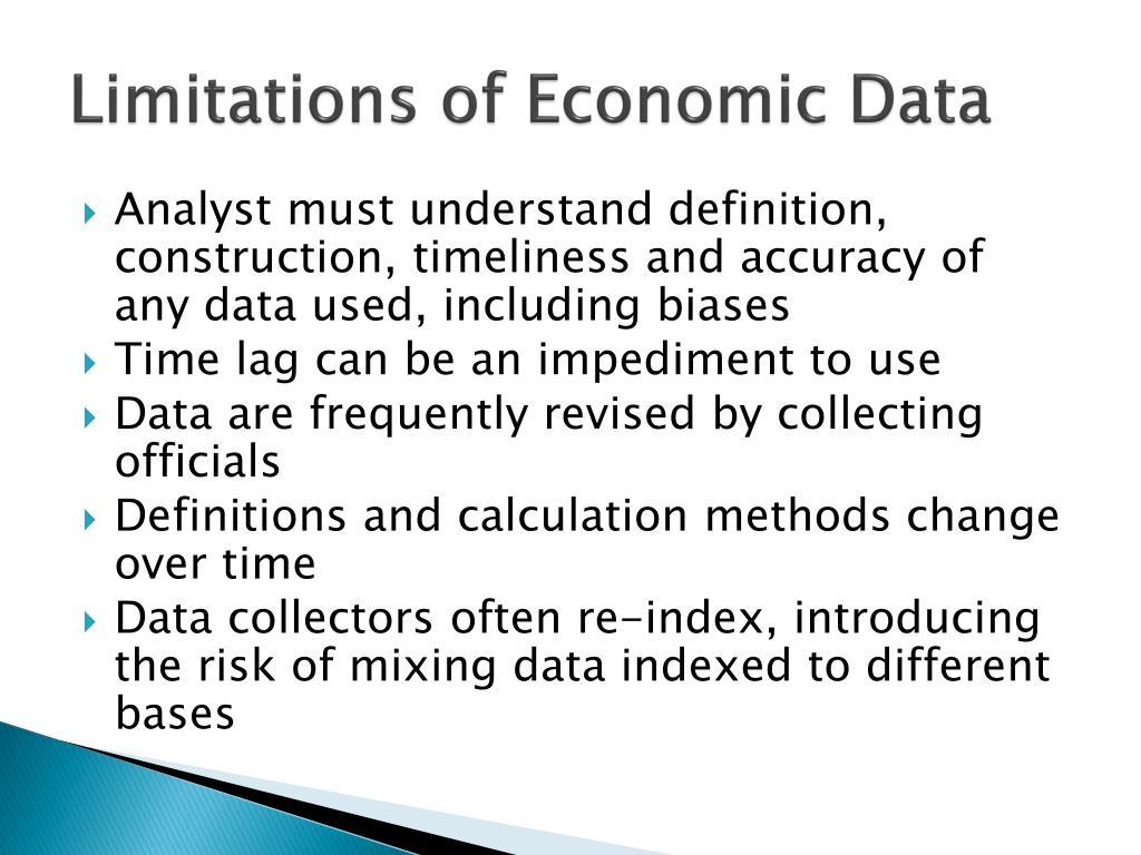 Limitations of Economic Data