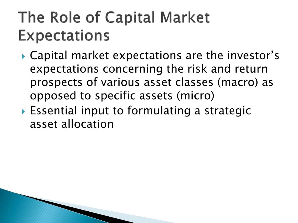 The Role of Capital Market Expectations