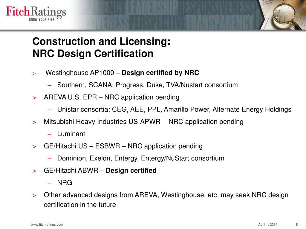 Construction and Licensing: