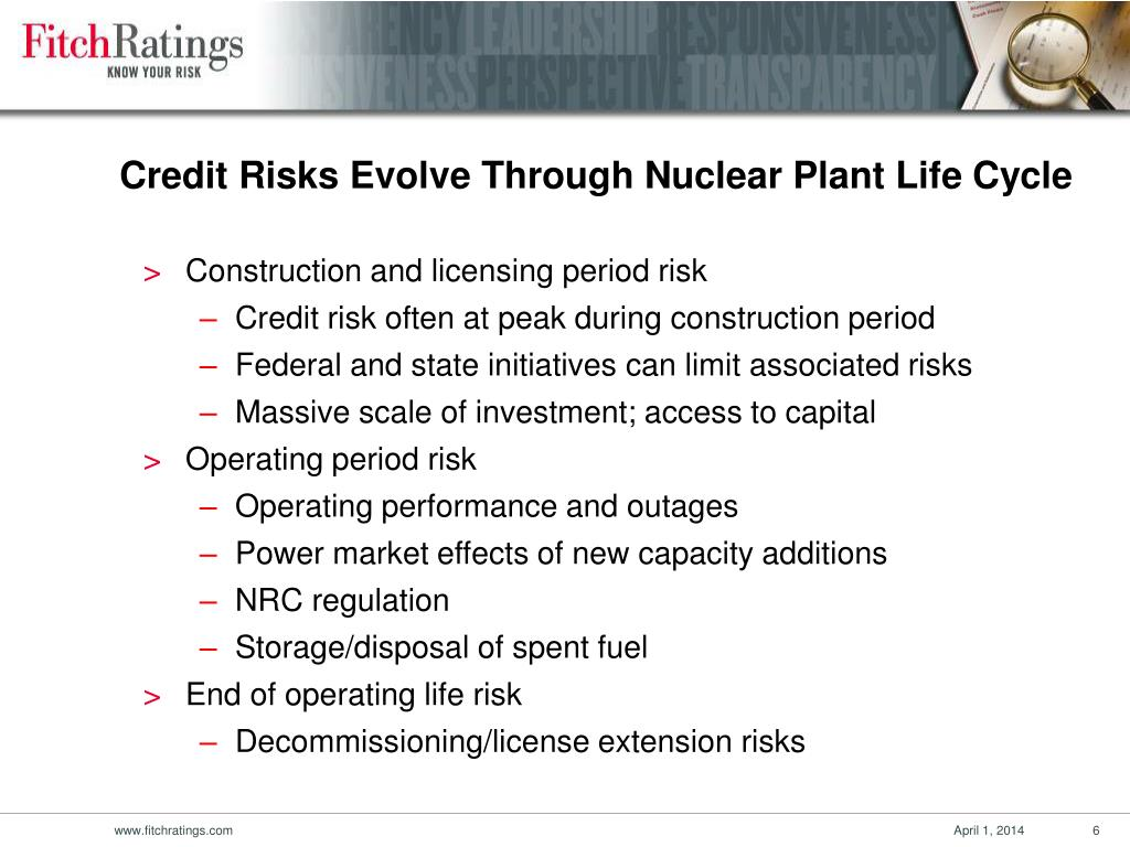 Construction and licensing period risk