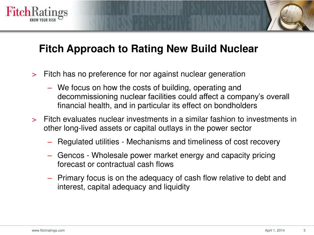 Fitch Approach to Rating New Build Nuclear