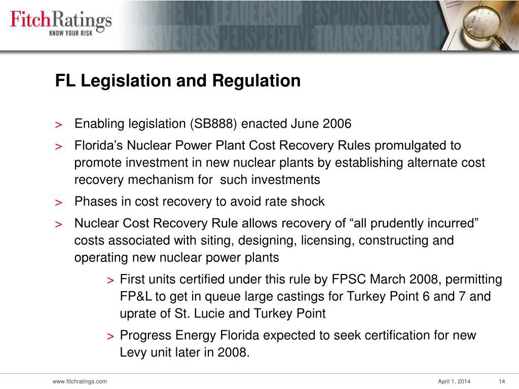 FL Legislation and Regulation