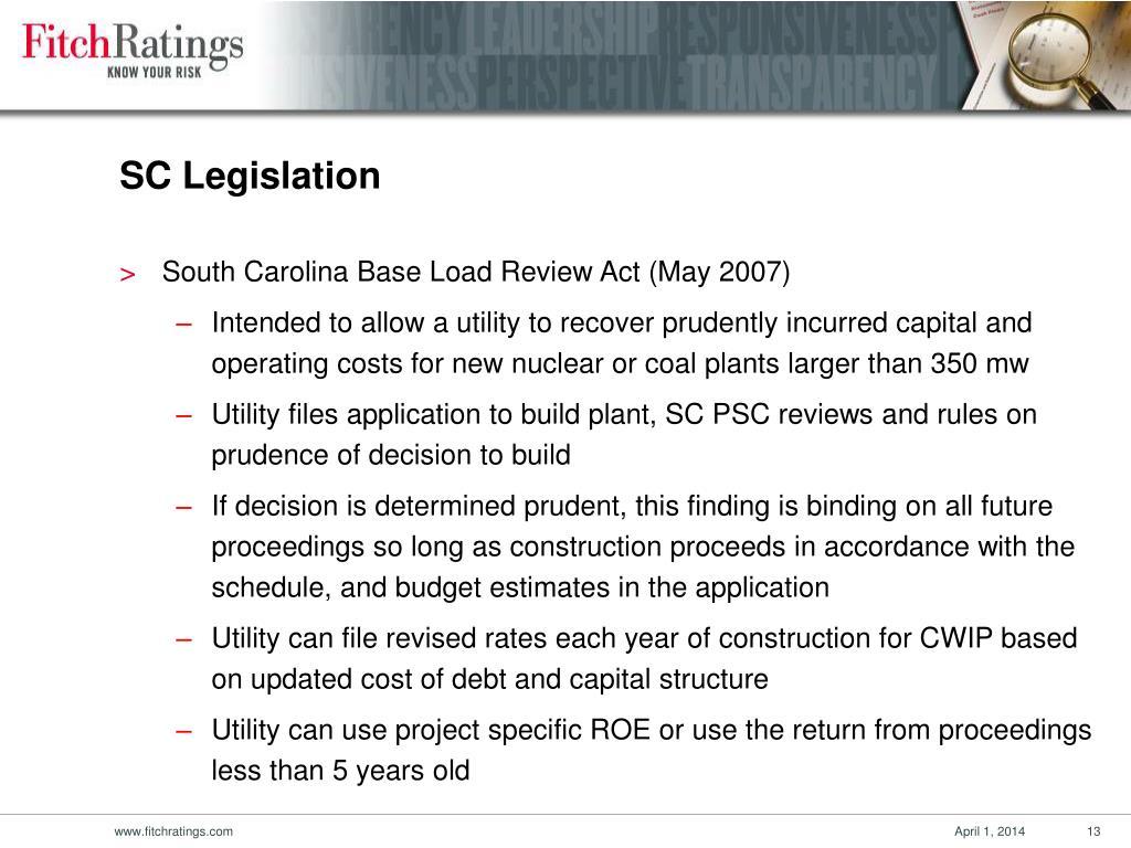 SC Legislation