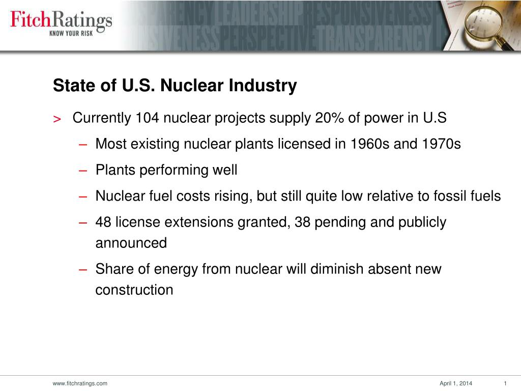 State of U.S. Nuclear Industry