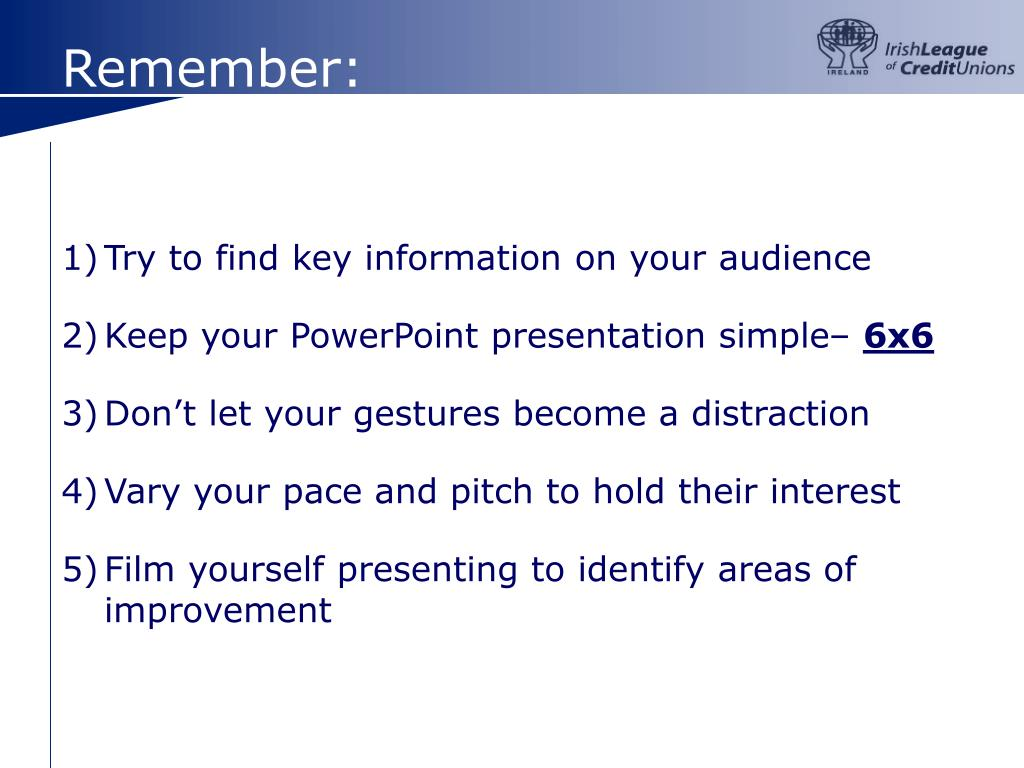 Try to find key information on your audience