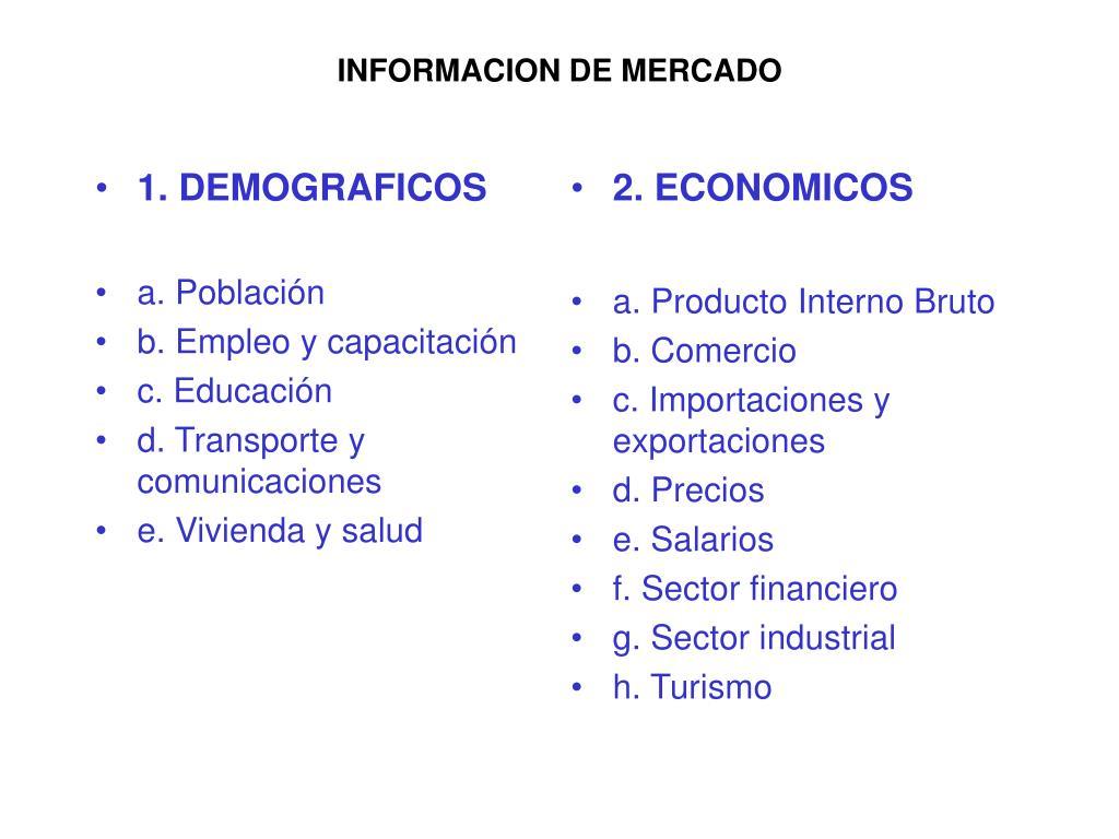 1. DEMOGRAFICOS