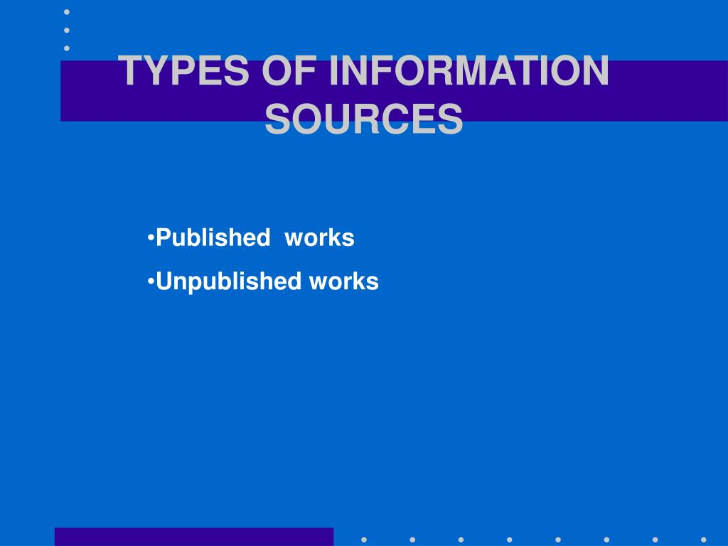 types of information sources l.