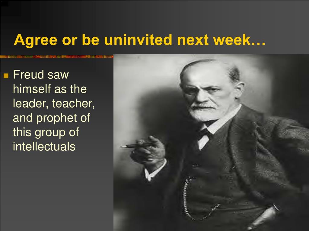 Agree or be uninvited next week…