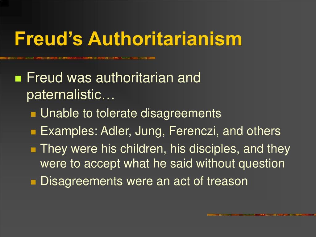 Freud's Authoritarianism