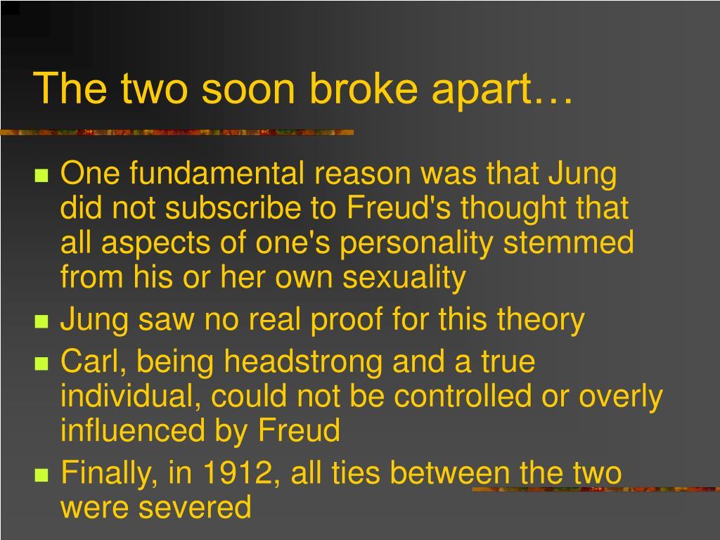 The two soon broke apart…