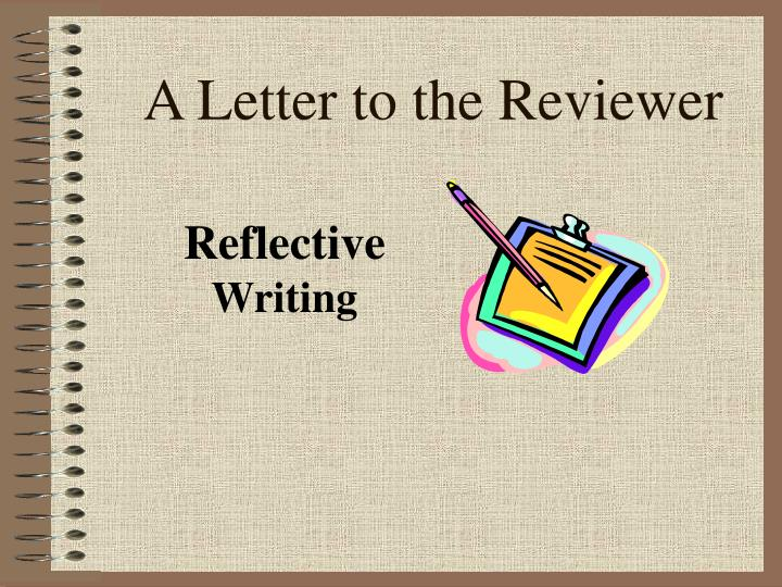 A letter to the reviewer