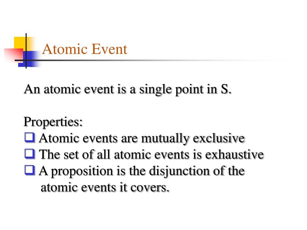 Atomic Event