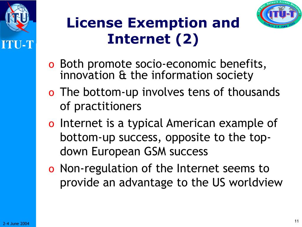License Exemption and Internet (2)