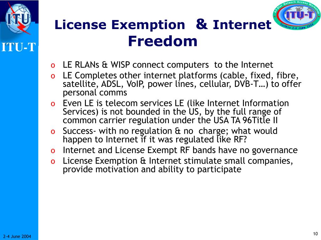 License Exemption