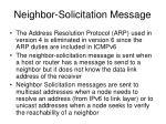 neighbor solicitation message