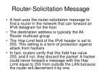 router solicitation message