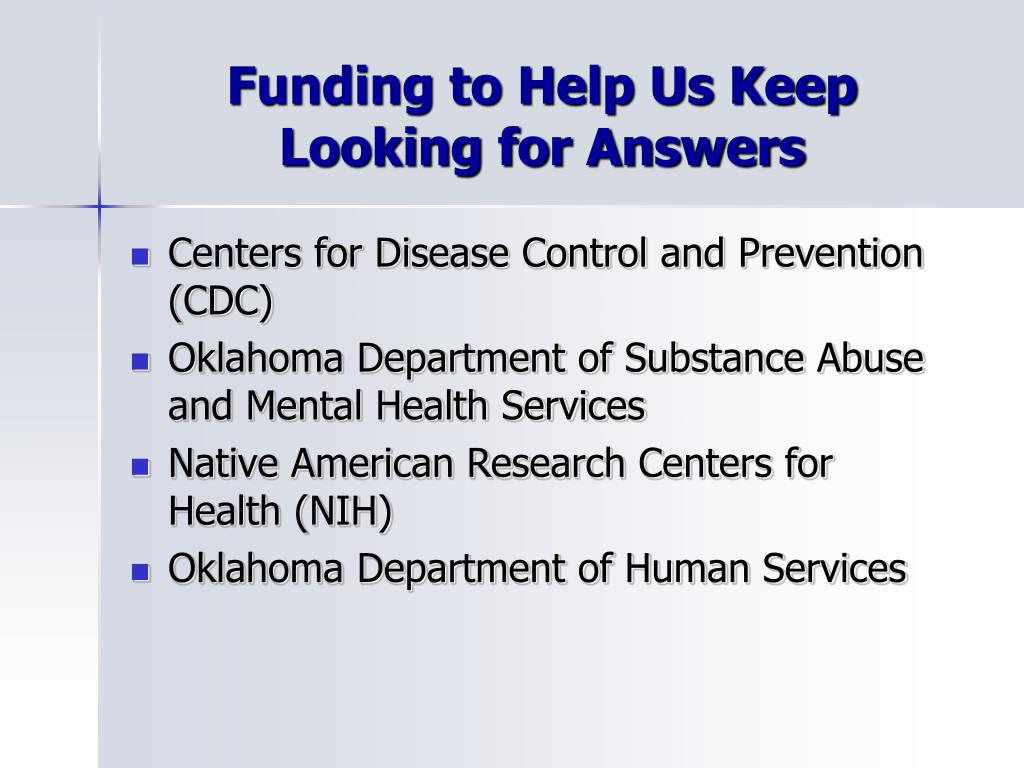Funding to Help Us Keep Looking for Answers