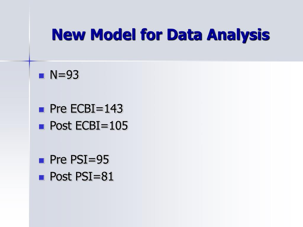 New Model for Data Analysis